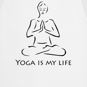 Yoga is my life sw - Kochschürze