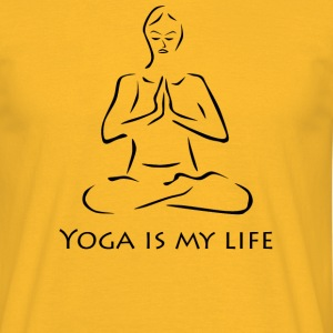 Yoga is my life sw - Männer T-Shirt