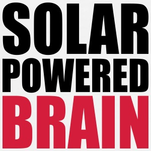 solar powered brain Buttons - Men's Premium T-Shirt