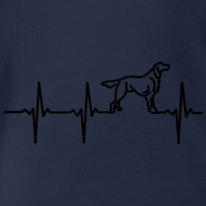 My heart beats for dogs! Shirts - Organic Short-sleeved Baby Bodysuit