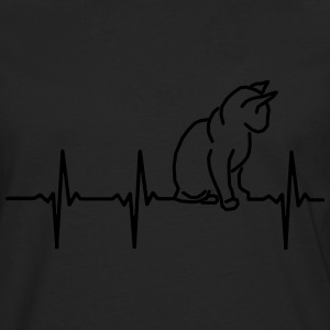 My heart beats for cats! T-Shirts - Men's Premium Longsleeve Shirt