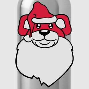 head, face, santa claus christmas nicholas winter  T-Shirts - Water Bottle