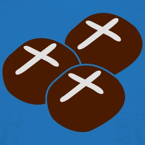 three hot cross buns  Aprons - Men's T-Shirt
