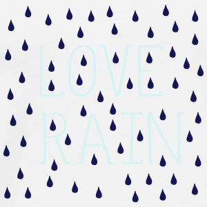 LOVE RAIN TYPO RAINDROPS Mug - Men's Premium T-Shirt