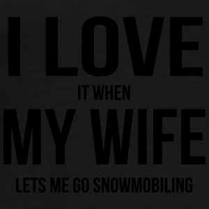 I LOVE MY WIFE (IF SHE LETS ME SNOWBOARDING) Umbrellas - Men's Premium T-Shirt
