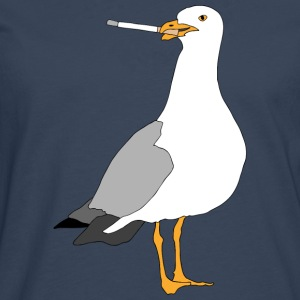 Smoking seagull - Men's Premium Longsleeve Shirt