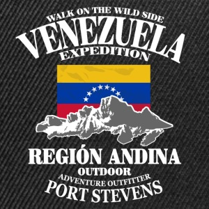 Venezuela - Flag & Mountains Tee shirts - Casquette snapback