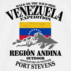 Venezuela - Flag & Mountains Tops - Männer Premium T-Shirt