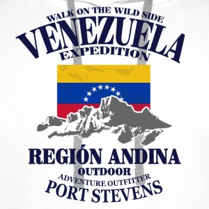 Venezuela - Flag & Mountains T-Shirts - Men's Premium Hoodie