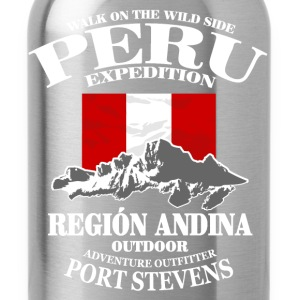 Peru - Flag & Mountains Pullover & Hoodies - Trinkflasche