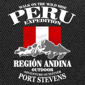 Peru - Flag & Mountains Sweat-shirts - Casquette snapback