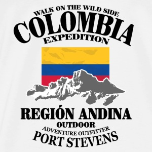 Columbia - Flag & Mountains Tops - Männer Premium T-Shirt