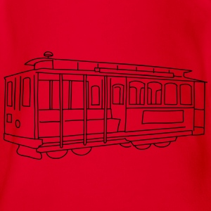 San Francisco Cable Car Shirts - Organic Short-sleeved Baby Bodysuit