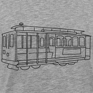 San Francisco Cable Car Pullover & Hoodies - Männer Premium T-Shirt