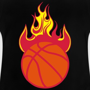 feuer flamme basketballball 1110 T-Shirts - Baby T-Shirt
