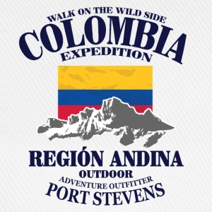 Columbia - Flag & Mountains T-Shirts - Baseballkappe