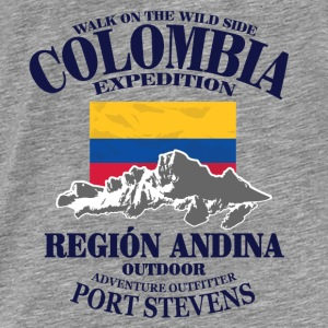 Columbia - Flag & Mountains Sweaters - Mannen Premium T-shirt