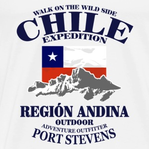 Chile - Flag & Mountains Toppe - Herre premium T-shirt