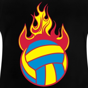 volleyball wasserball ball feuer flamme T-Shirts - Baby T-Shirt
