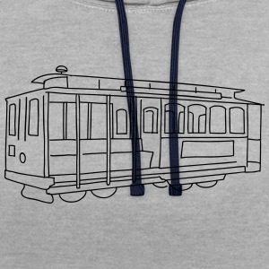San Francisco Cable Car T-Shirts - Kontrast-Hoodie