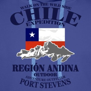 Chile - Flag & Mountains T-Shirts - Männer Premium Hoodie