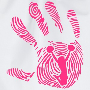 cheerleader fussabdruck hand 1110 T-Shirts - Turnbeutel