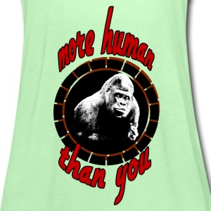 More human (Gorilla)  Shirts - Women's Tank Top by Bella