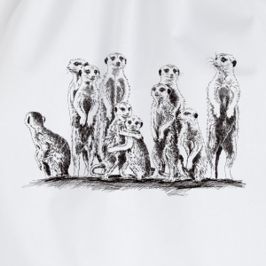 Meerkats T-Shirts - Drawstring Bag