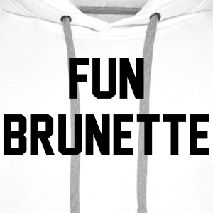 Fun brunette Tee shirts - Sweat-shirt à capuche Premium pour hommes