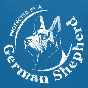 Protected by a German Shepherd - Women's V-Neck T-Shirt
