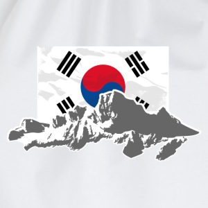 South Korea - Flag & Mountains T-Shirts - Turnbeutel