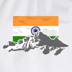 India - Indien - Flag & Mountains T-Shirts - Turnbeutel