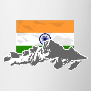 India - Indien - Flag & Mountains T-Shirts - Tasse