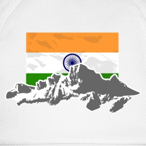 India - Indien - Flag & Mountains Pullover & Hoodies - Baseballkappe