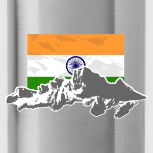 India - Indien - Flag & Mountains Pullover & Hoodies - Trinkflasche