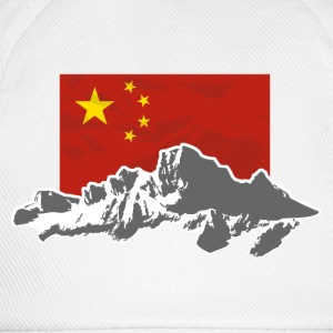 China - Flag & Mountains T-Shirts - Baseballkappe