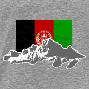 Afghanistan - Flag & Mountains Pullover & Hoodies - Männer Premium T-Shirt