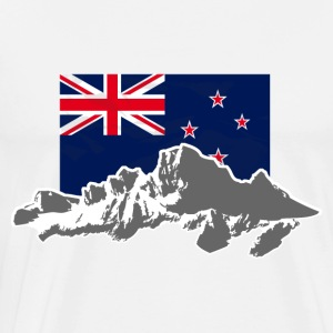 New Zealand - Mountains & Flag Long sleeve shirts - Men's Premium T-Shirt