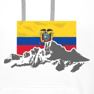 Ecuador - Mountains & Flag T-shirts - Mannen Premium hoodie