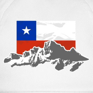 Chile -  Mountains & Flag Felpe - Cappello con visiera