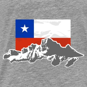 Chile -  Mountains & Flag Sweaters - Mannen Premium T-shirt
