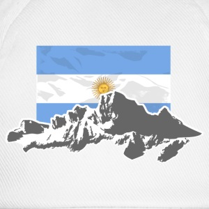 Argentina - Mountains & Flag T-Shirts - Baseball Cap