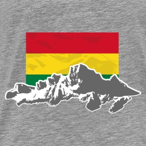 Bolivia - Mountains & Flag Pullover & Hoodies - Männer Premium T-Shirt
