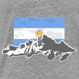 Argentina - Mountains & Flag Sweat-shirts - T-shirt Premium Homme