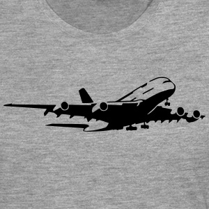 airplane Flugzeug A 380 (1 color) Tee shirts - T-shirt manches longues Premium Homme