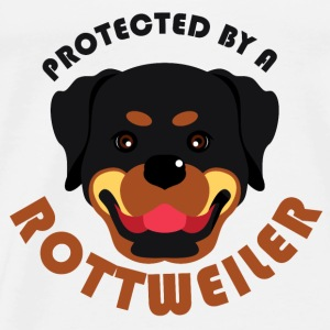 Protected by a Rottweiler - Men's Premium T-Shirt