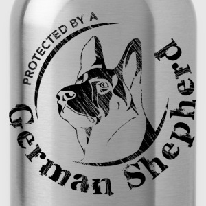 Protected by a German Shepherd - Water Bottle