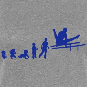 evolution parallel bar gymnastik adult T-Shirts - Frauen Premium T-Shirt