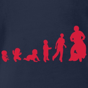 evolution motoball spielen 1rennen T-Shirts - Baby Bio-Kurzarm-Body