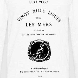 Verne book cover Tee shirts - T-shirt manches longues Premium Homme